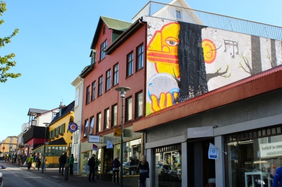 Street art in downtown Reykjavik on my little street