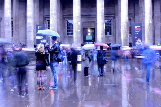 Rainy day at the British Museum