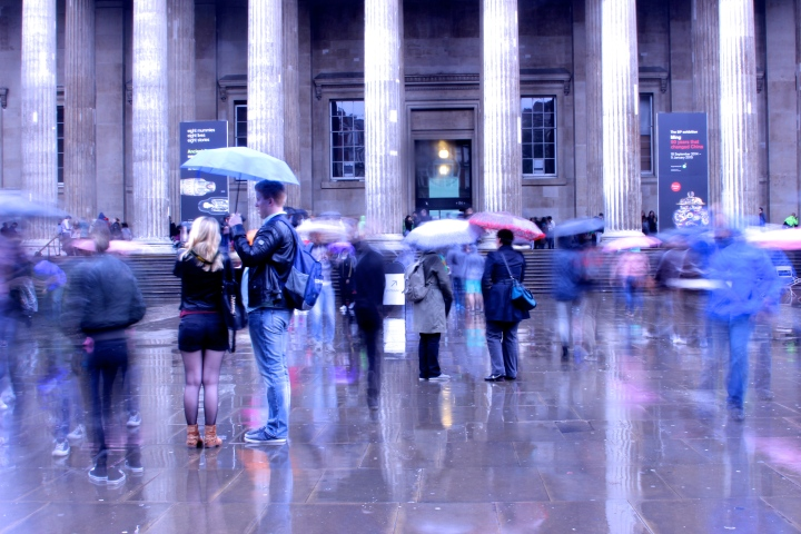 Rainy day at the British Museum