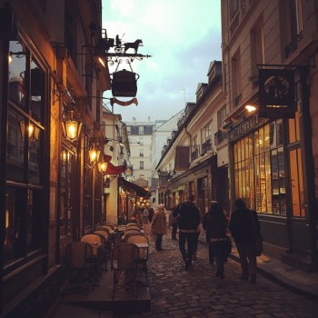 A magical walking street we stumbled upon at dusk, c/o Katie Rodgers