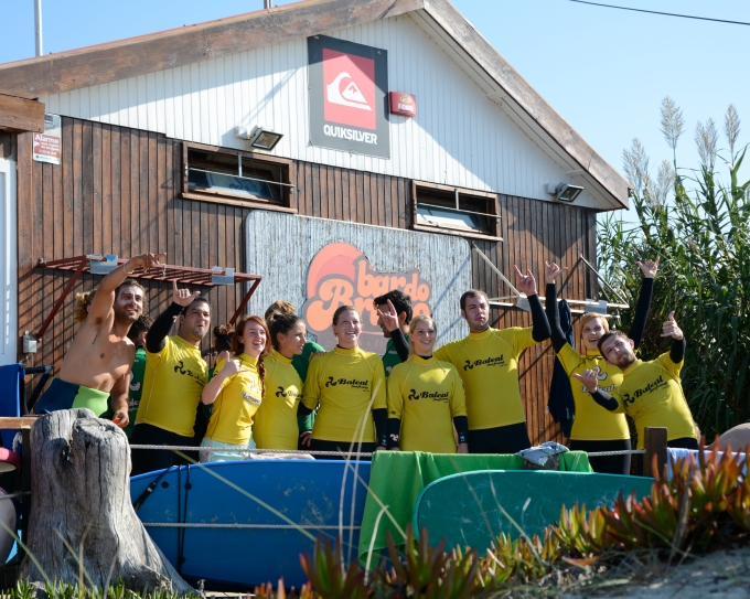 Yellow team, week 2.  c/o Baleal Surf Camp