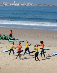 Warming up, c/o Baleal Surf Camp