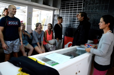 Getting our wetsuits,  c/o Baleal Surf Camp