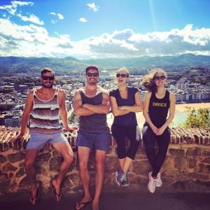 Regan, Kieran, Victoria, and Katie