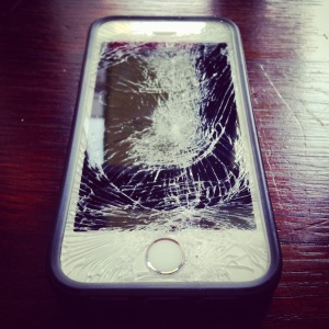 The broken phone
