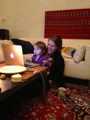 Maya likes watching surf videos