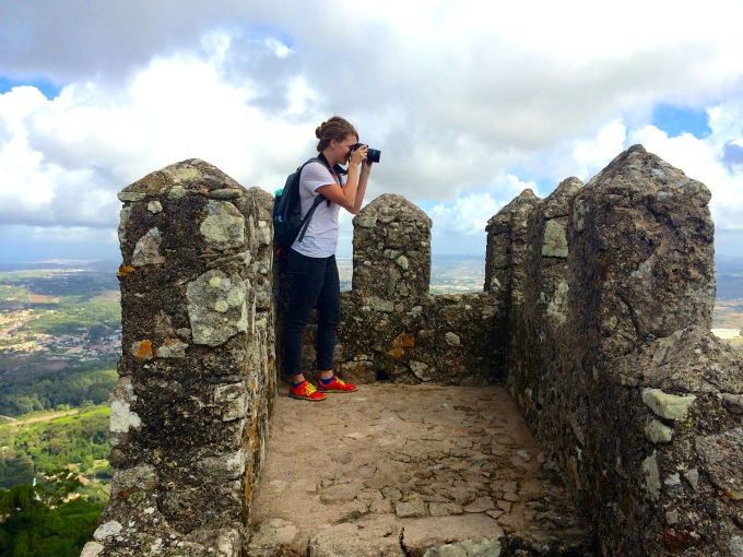 Shooting on the top of Sintra, Portugal