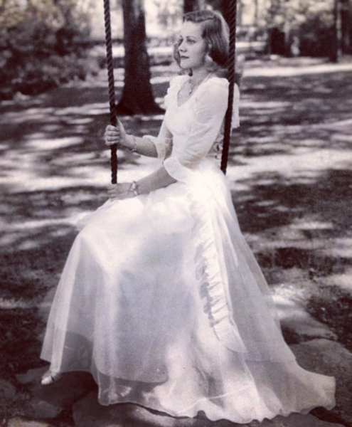 My grandmother on her wedding day