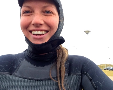 Post-surf thaw, post-surf smile. Portush, Northern Ireland