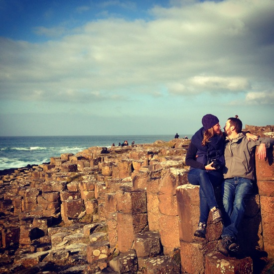 Mike and me at the Giant's Causeway a couple of weeks ago.
